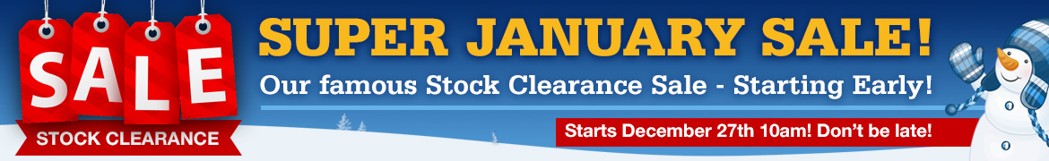 January Stock Clearance!